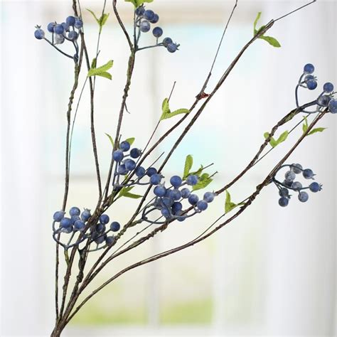 artificial blueberry and twig branch spray picks and