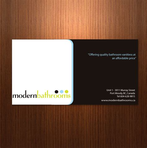 business card design contests modernbathroomsca image