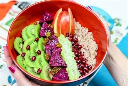 Fruit Bowl Exotic Oatmeal Colorful Recipes