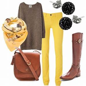 Fall outfits polyvore | yellow fall outfit - Polyvore