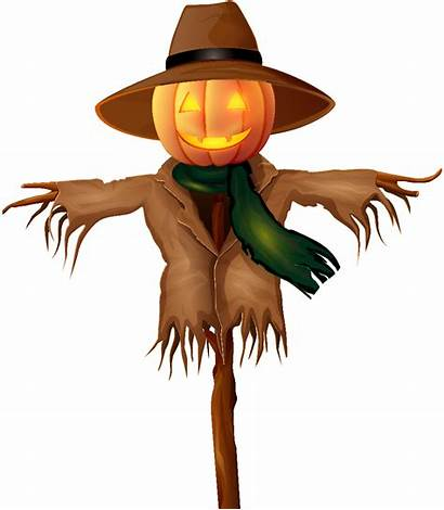 Scarecrow Halloween Clip Clipart Transparent Background Scary