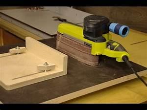 Homemade Belt Sander Table - YouTube
