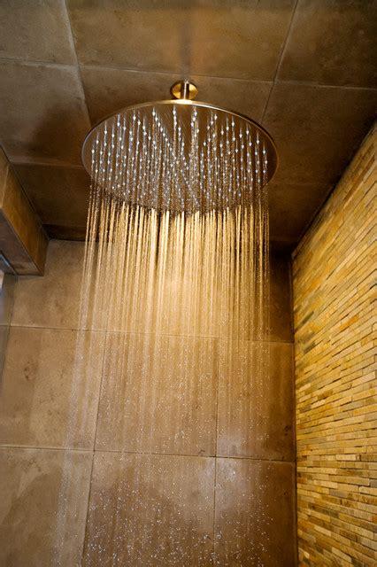 ceiling mount rainfall shower bathworks shower systems contemporary showerheads