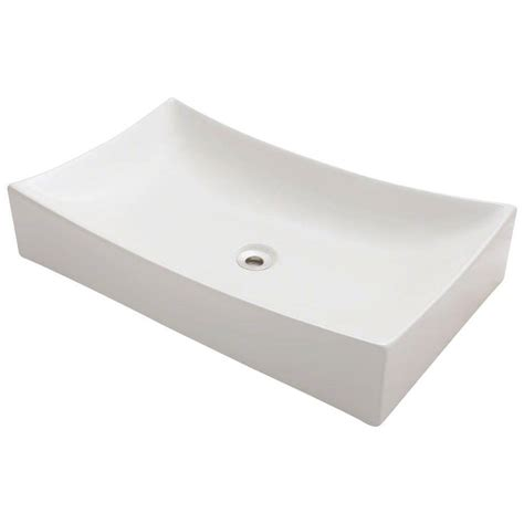 home depot white vessel sink polaris sinks porcelain vessel sink in white p053v w the