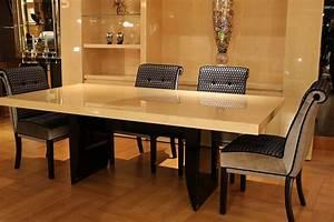 Table Salle Manger Table Haute Table De Repas De Luxe