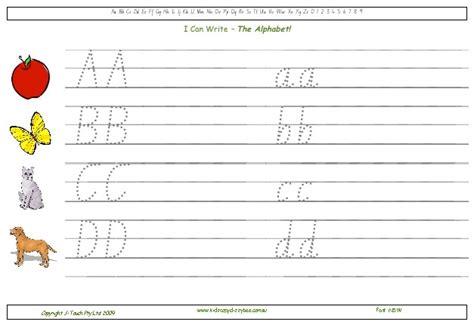 nsw foundation handwriting free