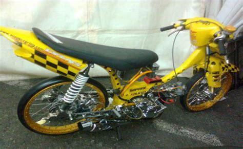 Modifikasi Motor Smash 2007 by Modifikasi Suzuki Smash New Titan Racing Drag Simpel