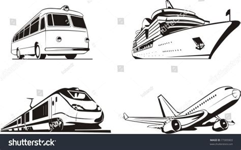 Transportation Passenger By All Means Of Transport Stock