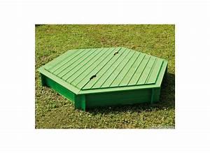 Bac à Sable Bois : bac sable en bois hexagonal jardipolys couvercle ~ Premium-room.com Idées de Décoration