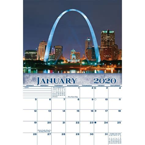 st louis missouri wall calendar