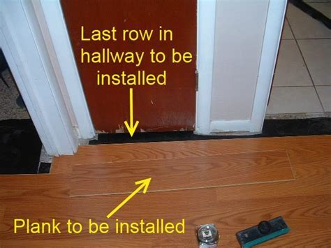 Installing Last Row of Laminate Flooring in Hallways