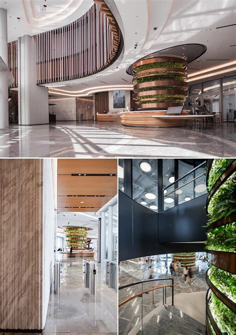 columns  plants create vertical gardens   building