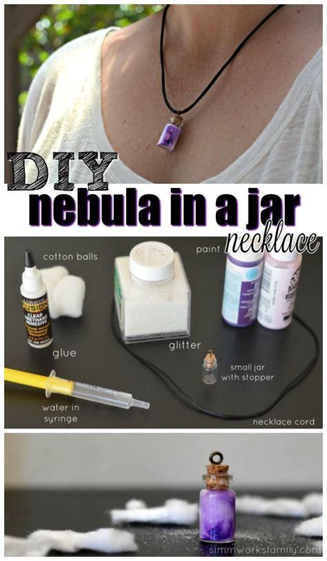 diy nebula   jar necklace tutorial crafts   jar