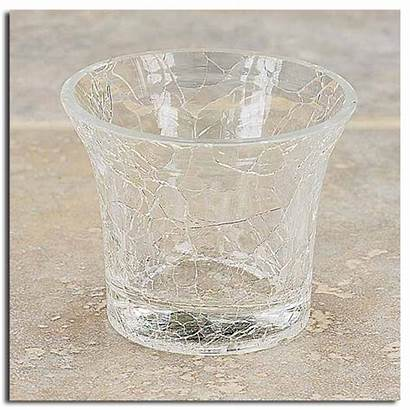 Glass Votive Candle Crackle Holders