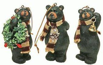 scarf black bear ornaments christmas tree ideas