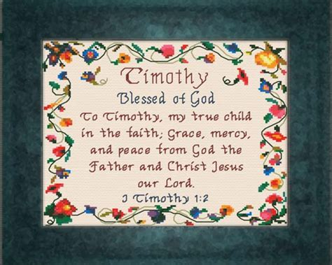 color meanings name blessings timothy personalized names with