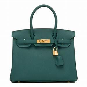 Hermes Birkin Bag 30cm Malachite Togo Gold Hardware ...  Hermes