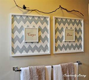 bathroom wall art decorating tips inoutinterior With homemade wall art
