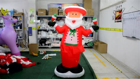 christmas roof decoration inflatable santa claus