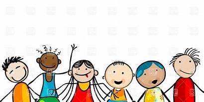 Clipart Children Clip Smiling Borders Kid Childrens