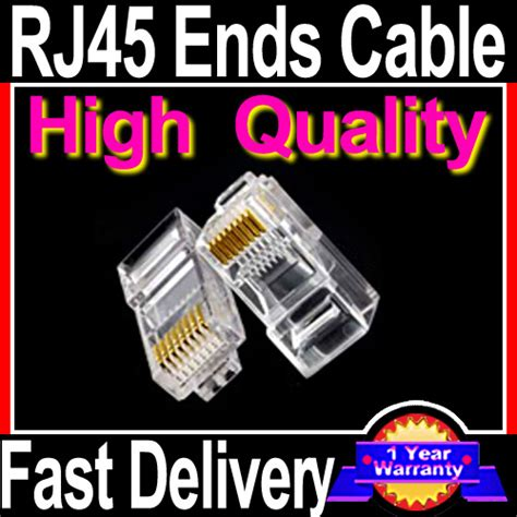 Connector Network Cable Cat Crimp Ends Plugs Images