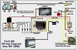 Ford Tractor 9n Wiring Diagram Thru Sn 12500  62473