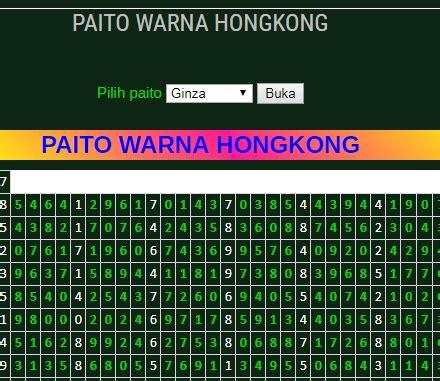 paito warna hongkong data warna hongkong warna