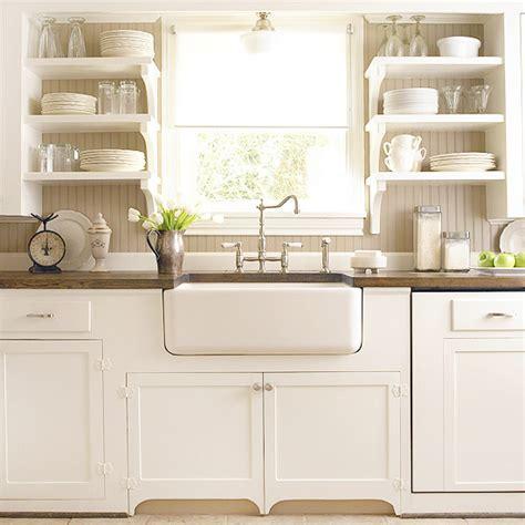 kitchen open cabinets gray beadboard backsplash design ideas Farmhouse