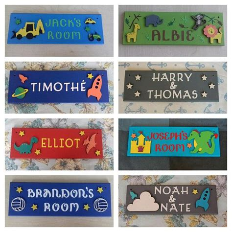 personalised childrens bedroom door  plaques