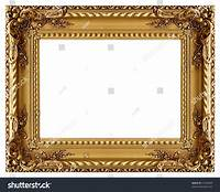 gold picture frames Picture Gold Frame Decorative Pattern Stock Photo 21598990 ...