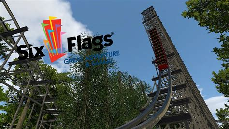 flags great adventure    rmc coaster layout