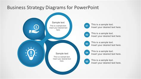 business strategy template free business strategy diagram powerpoint slidemodel