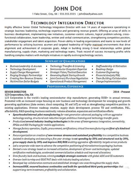 technology director resume   integration