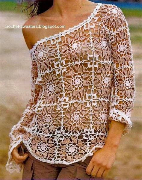 todo crochet blusa al crochet con dise 241 o de squares cuadros tejidos свитера вязаные