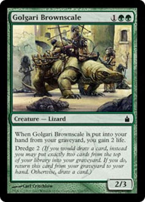 Mtg Dredge Deck Vintage by Golgari Brownscale The Magic The Gathering Wiki Magic