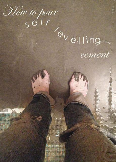Pour  Levelling Cement Basement Flooring Diy