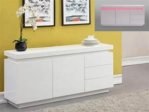 Buffet Bas Blanc : buffet bas ivoire ~ Teatrodelosmanantiales.com Idées de Décoration