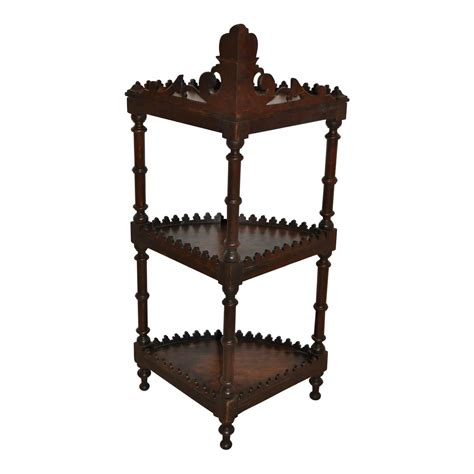 Corner Etagere Shelves by Corner 201 Tag 232 Re With Three Shelves Ski Country Antiques