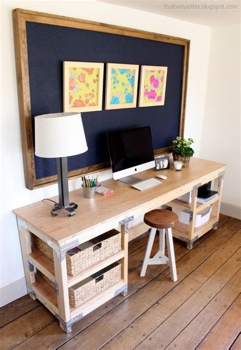 easy to make desk for the office garage ana white build a diy desk