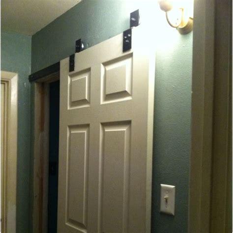 barn style sliding door   bathroom home dreams