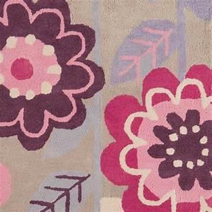 tapis design a fleurs en coton pour chambre de fille par With tapis chambre bébé avec tapis fleur pour dos