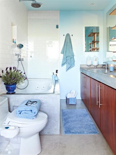 Decorating Ideas For Spa Like Bathroom by Cool Blue Spa Like Bathroom Hgtv
