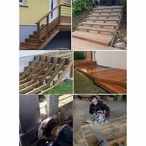 Escalier 4 Marches : kit escalier 4 marches largeur 100 cm marches en ip du br sil boutique alsace terrasse ~ Melissatoandfro.com Idées de Décoration