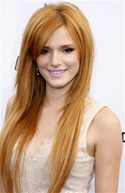 Bella Thorne Long and Straight Hairstyle