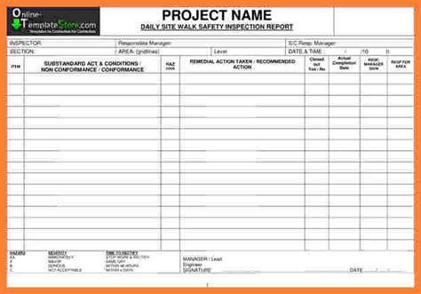 construction inspection report template progress report