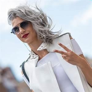 Quelle Couleur Faire Sur Des Meches Blondes : comment bien porter les cheveux gris elle ~ Melissatoandfro.com Idées de Décoration