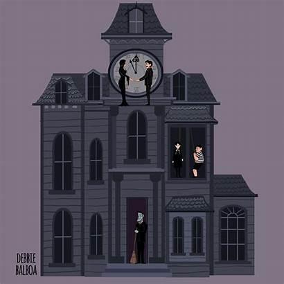 Addams Wednesday Debbie Sketch Adams Morticia Cartoon