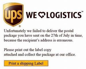 Fake ups notices deliver malware help net security for Create fake shipping label