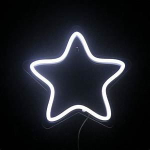 CHIBUY LED Neon Star Light Star Night Lamp PVC Neon Sign