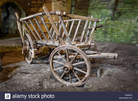 Stone Wheel Cart Stock Photos